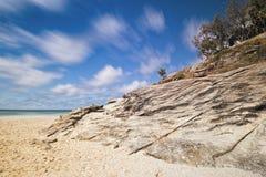 Plage de cylindre sur l'île de Stradbroke, Queensland Photographie stock libre de droits