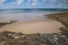 Plage de cylindre sur l'île de Stradbroke, Queensland Photos libres de droits