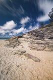 Plage de cylindre sur l'île de Stradbroke, Queensland Photographie stock