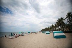 Plage de Deerfield, la Floride faisant face à des sud Image stock