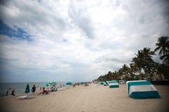 Plage de Deerfield, la Floride faisant face à des sud Images libres de droits