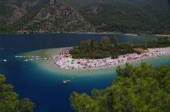 Plage de deniz de ¼ de ÃlÃ, Turquie Photographie stock