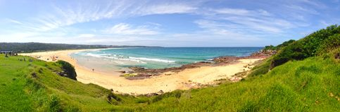 Plage de double de Merimbula Photo stock