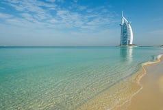 Plage de Dubaï, EAU Photographie stock libre de droits
