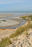 Plage de dunes et mer - plage de Hardelot Image libre de droits
