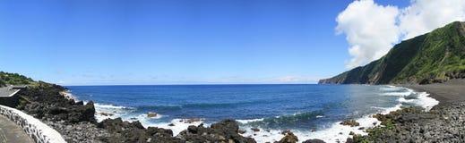 Plage de Faja - l'Océan Atlantique - Açores Photo libre de droits