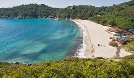 Plage de Fetovaia, Marina di Campo, île d'Île d'Elbe, AIE Image stock