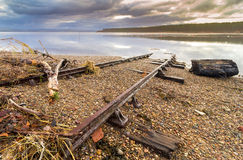Plage de Findhorn Photos stock
