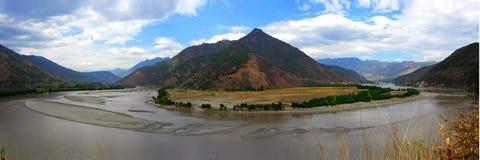 Plage de fleuve de Yang Tsé Kiang la première Photo libre de droits