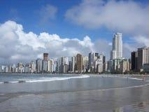 Plage de Florianopolis, Brésil, heure d'été Photographie stock libre de droits