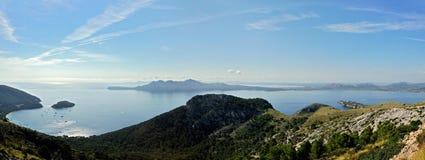 Plage de Formentor et côte d'Alcudia Images stock