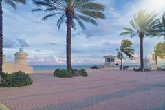 Plage de Fort Lauderdale Photos libres de droits