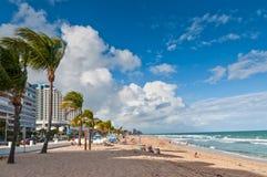 Plage de Fort Lauderdale Photo libre de droits