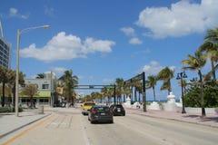 Plage de Fort Lauderdale Images libres de droits
