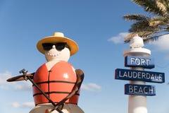 Plage de Fort Lauderdale, la Floride photo stock