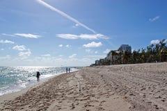 Plage de Fort Lauderdale, la Floride Photo libre de droits