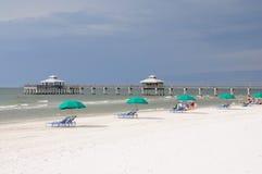Plage de Fort Myers, la Floride Photographie stock