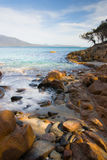 Plage de Freycinet Photographie stock