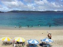 Plage de Furuzamami, île de Zamami, l'Okinawa, Japon, belle plage, magnifique, stupéfiant Photo libre de droits
