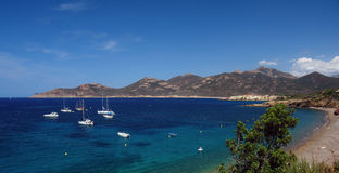 Plage de Galeria dans la côte de la Corse Photos stock
