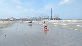 Plage de Galveston images stock