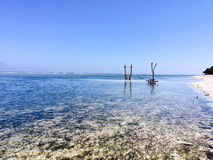 Plage de Gili Trawangan photo stock