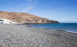 Plage de Giniginamar à Fuerteventura en Espagne Photographie stock libre de droits