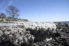 Plage de glace photographie stock