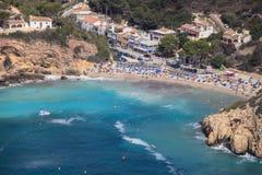 Plage de Granadella de La Javea, Alicante, Espagne Image libre de droits