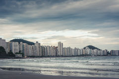 Plage de Guaruja, des Asturies et de Pitangueiras Photos stock
