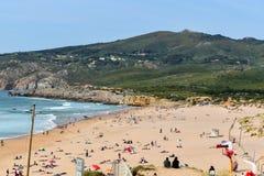 Plage de Guincho au Portugal Photos stock