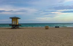 Plage de Hallandale Photos stock