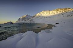 Plage de Haukland, Norvège Images stock