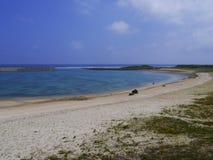 Plage de Hikawa en île de Yonaguni, Japon Images libres de droits