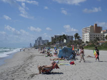 Plage de Hollywood, Pembroke Pines Photos stock