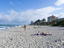 Plage de Hollywood, Pembroke Pines Photos libres de droits