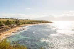 Plage de Hookipa sur Maui Images libres de droits