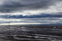 Plage de Hoylake, Wirral, Merseyside, Angleterre Photographie stock libre de droits