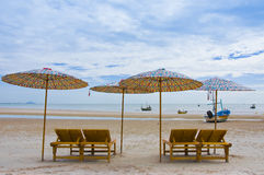 Plage de Hua Hin, Thaïlande image stock