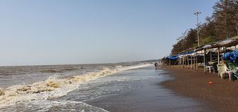 Plage de Jampore, daman, Goudjerate, Inde photo libre de droits