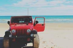 Plage de jeep Image stock