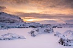 Plage de Jockusarlon, Islande image stock