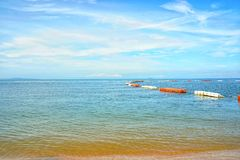 Plage de Jomtien de mer, Pattaya Chon Buri en Thaïlande photo libre de droits
