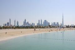 Plage de Jumeirah à Dubaï Images libres de droits