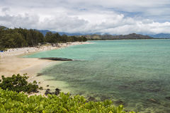 Plage de Kailua Photo stock