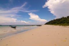 Plage de Kalapattar à l'île de Havelock Images libres de droits