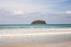 Plage de Karon en île Thaïlande de Phuket Images libres de droits