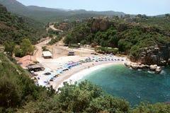 Plage de Kas, Antalya - Turquie Photos libres de droits