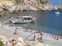 Plage de Kastro, Skiathos, Grèce photo libre de droits