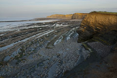 Plage de Kilve Photo stock